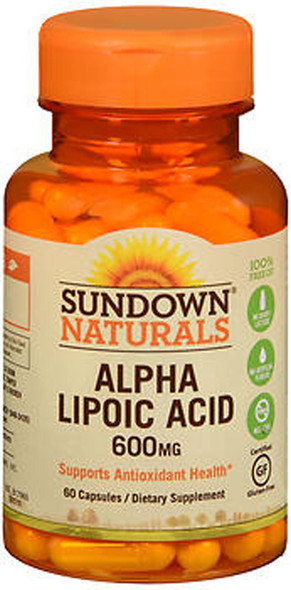 Sundown Naturals Super Alpha Lipoic Acid 600 mg Capsules - 60 ct