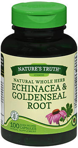 Nature's Truth Natural Whole Herb Echinacea & Goldenseal Root - 100 Quick Release Capsules