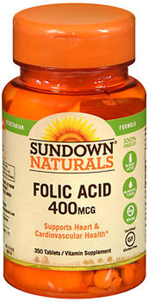 Sundown Naturals Folic Acid 400 mcg Tablets - 350 ct