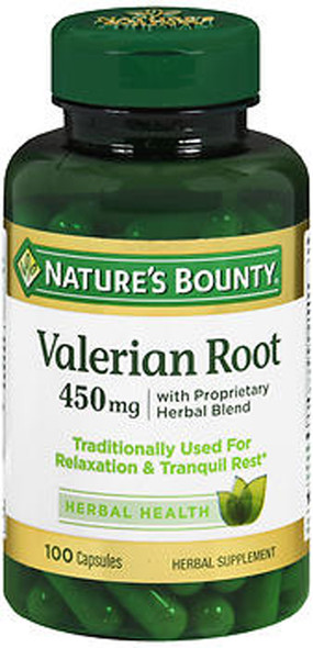 Nature's Bounty Valerian Root 450mg  - 100 Capsules