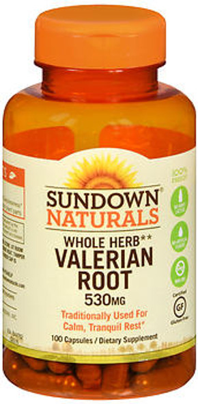 Sundown Naturals Valerian Root 530 mg Capsules - 100 ct