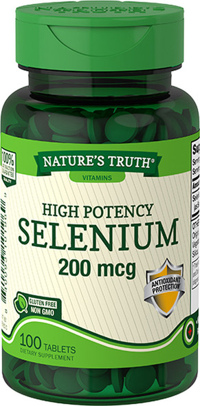 Nature's Truth High Potency Selenium 200 mcg Tablets - 100 ct