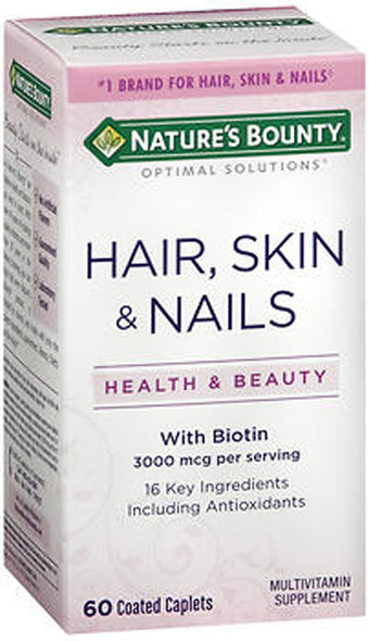 Nature's Bounty Hair, Skin and Nails - 60 Coated Caplets
