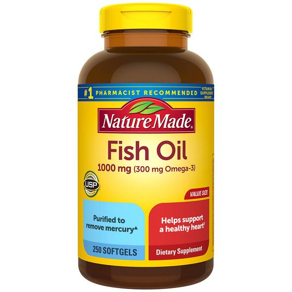 Nature Made Fish Oil 1000 mg - 250 Softgels