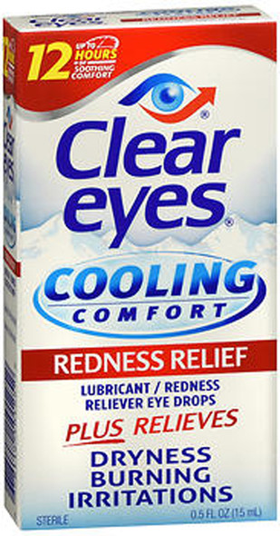 Clear Eyes Cooling Comfort Redness Relief Eye Drops - 0.5 oz