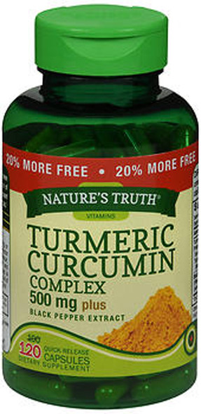 Nature's Truth Turmeric Curcumin Complex 500 mg Plus Black Pepper Extract - 120 Quick Release Capsules