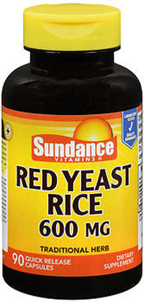 Sundance Red Yeast Rice 600 mg - 90 Quick Release Capsules