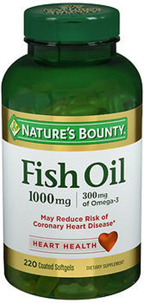 Nature's Bounty Fish Oil 1000mg Dietary Supplement Softgels - 220 ct