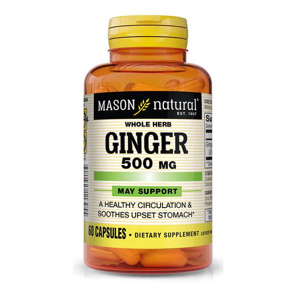 Mason Natural Ginger 500 mg - 60 Capsules