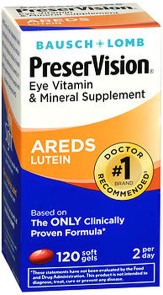 PreserVision Eye Vitamin and Mineral Supplement With Lutein - 120 Softgels