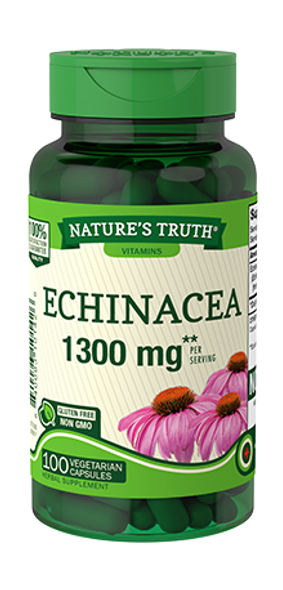 Nature's Truth Natural Whole Herb Echinacea 1300 mg Quick Release Capsules - 100 ct