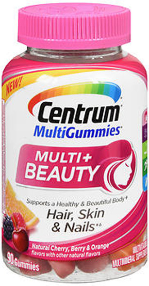 Centrum MultiGummies Multi+ Beauty Natural Cherry Berry And Orange - 90 Gummies