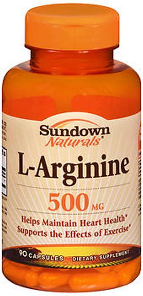 Sundown L-Arginine 500 mg Capsules - 90 ct