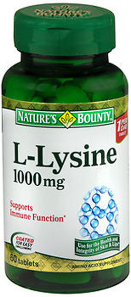 Nature's Bounty L-Lysine 1000 mg - 60 Tablets