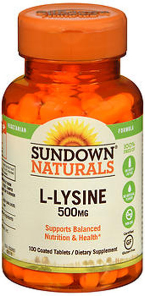 Sundown Naturals L-Lysine 500 mg Tablets - 100 ct