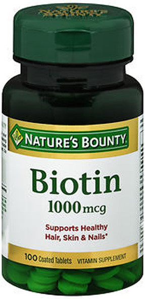 Nature's Bounty Biotin 1000 mcg Tablets - 100 ct