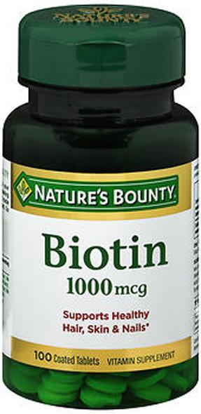 Nature's Bounty Biotin 1000 mcg Tablets - 100 ct