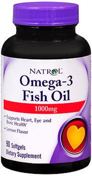Natrol Omega-3 Fish Oil 1000mg 90 Softgel