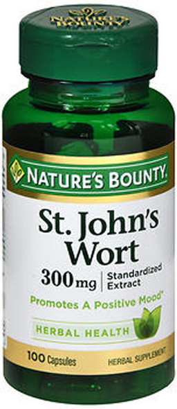 Nature's Bounty St. John's Wort Herbal Supplement 300 mg - 100 Capsules