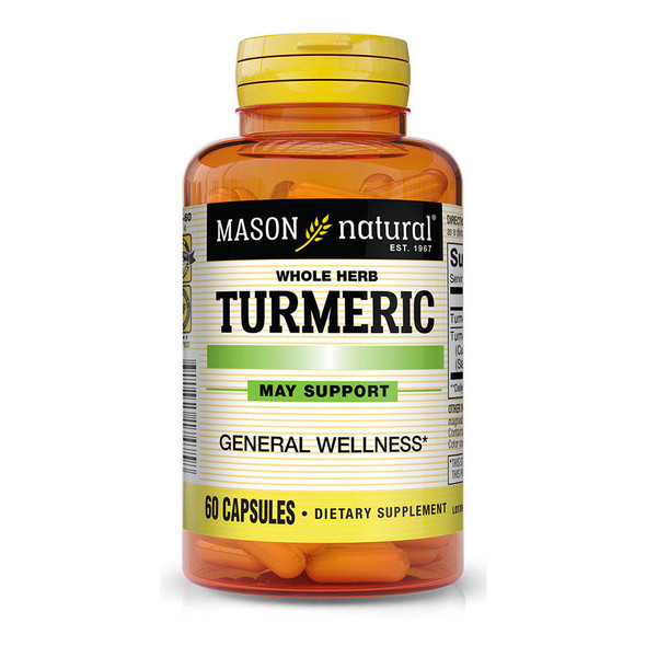 Mason Natural Turmeric Capsules - 60 Tablets