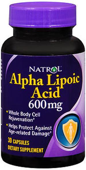 Natrol Alpha Lipoic Acid 600 mg- 30 Capsules