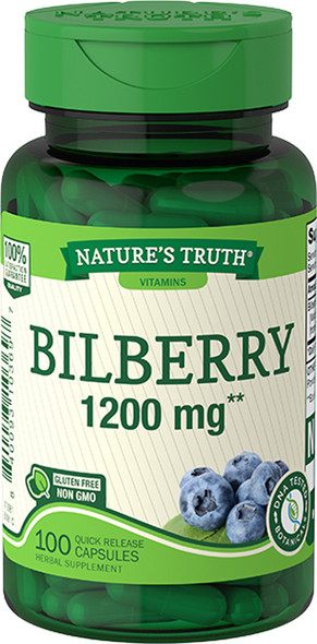 Nature's Truth Bilberry 1200 mg Quick Release Capsules - 100 ct