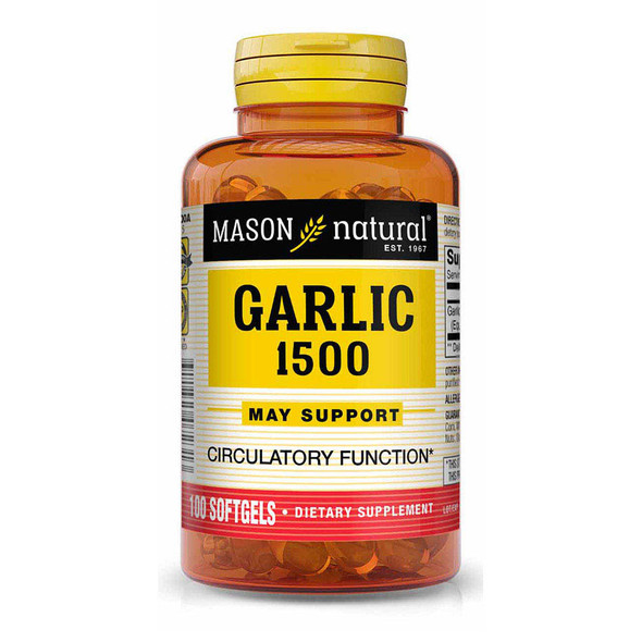 Mason Vitamins Natural Garlic Oil 1500 Softgels - 100ct