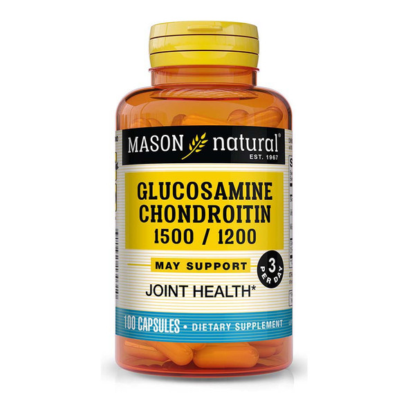 Mason Natural Glucosamine 1500 mg Chondroitin 1200 mg Capsules Double Strength - 100ct