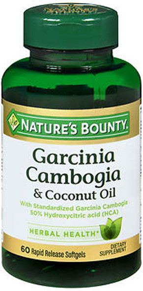Nature's Bounty Garcinia Cambogia & Coconut Oil Rapid Release Softgels - 60 ct