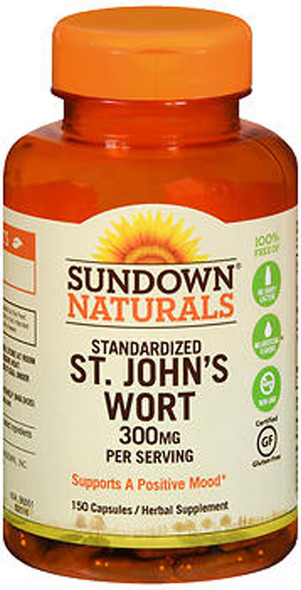 Sundown Naturals St. John's Wort 300 mg Capsules - 150 ct