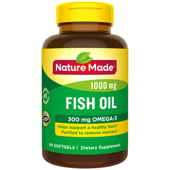 Nature Made Fish Oil 1000 mg - 90 Softgels