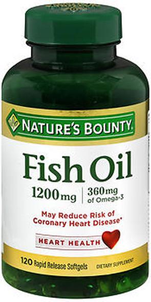 Nature's Bounty Fish Oil, 1200mg - 120 Softgels