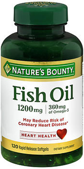 Nature's Bounty Fish Oil, 1200mg - 120 Softgels