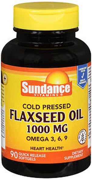 Sundance Vitamins Flaxseed Oil 1000 mg - 90 Softgels