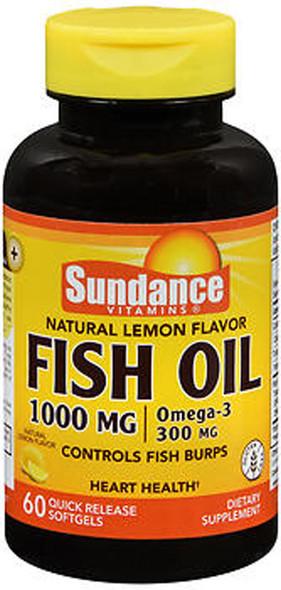 Sundance Vitamins Fish Oil 1000 mg Natural Lemon Flavor - 60 Softgels