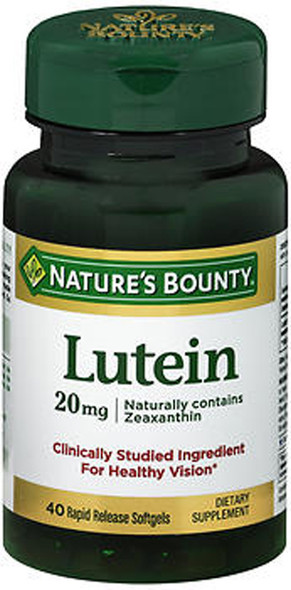 Natures Bounty Lutein 20mg, 40 Softgels