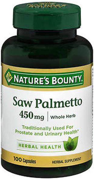 Nature's Bounty Saw Palmetto 450 mg - 100 Capsules