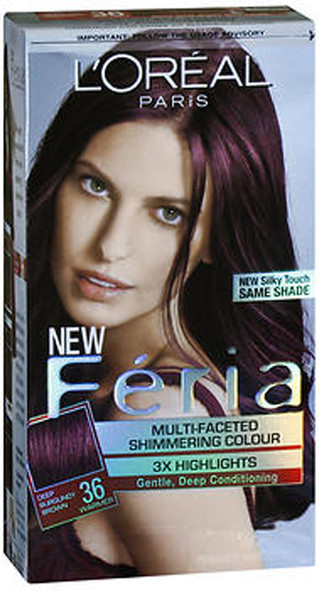 L'Oreal Feria Multi-Faceted Shimmering Haircolour Chocolate Cherry (Deep Burgundy Brown) (Warmer)