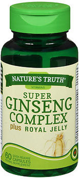 Nature's Truth Super Ginseng Complex plus Royal Jelly 800 mg Quick Release Capsules - 60 ct
