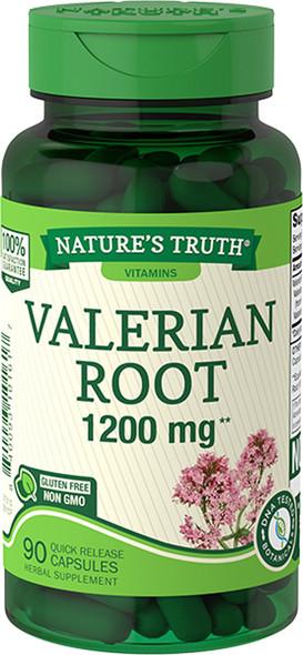 Nature's Truth Valerian Root 1200 mg Quick Release Capsules - 90 ct