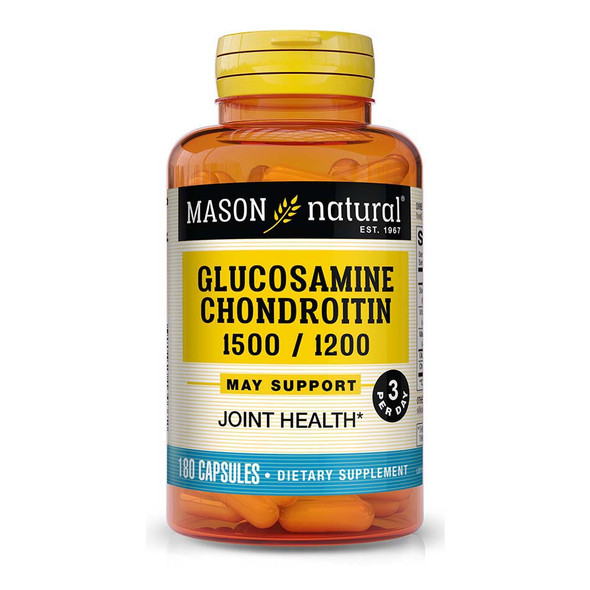 Mason Natural Glucosamine Chondroitin Capsules Double Strength - 180 ct