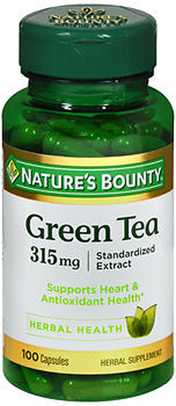 Natures Bounty Green Tea Extract 315mg - 100 Capsules