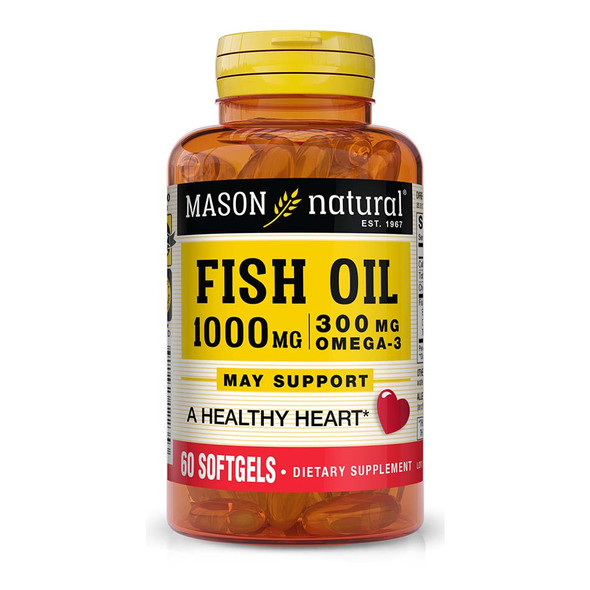 Mason Natural Omega-3 Fish Oil 1000 mg - 60 Softgels