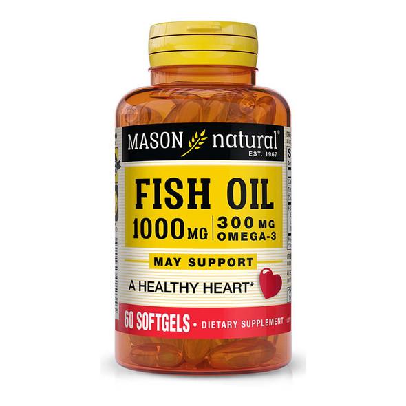 Mason Natural Omega-3 Fish Oil 1000 mg - 60 Softgels