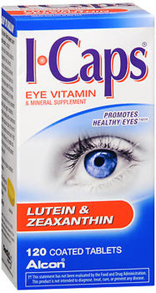 ICAPS Lutein & Zeaxanthin Eye Vitamin & Mineral Supplement Tablets - 120 Tablets