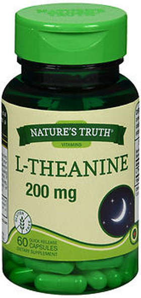 Nature's Truth L-Theanine 200 mg Dietary Supplement Capsules - 60 ct