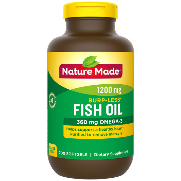 Nature Made Fish Oil 1200 mg - 200 Softgels