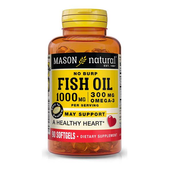Mason Natural No-Burp Omega-3 Fish Oil 1000 mg  - 90 Softgels