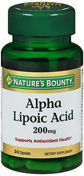 Nature's Bounty Alpha Lipoic Acid 200 mg Dietary Supplement Capsules - 30 ct