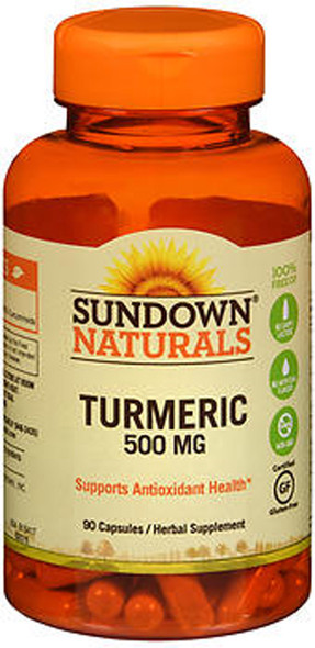 Sundown Naturals Turmeric 500 mg Herbal Supplements Capsules - 90 ct
